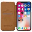 Nillkin Qin iPhone X leren boekhoesje bruin
