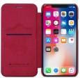 Nillkin Qin iPhone X leren boekhoesje rood