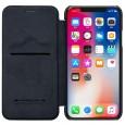 Nillkin Qin iPhone X leren boekhoesje zwart