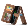 iPhone X Leren portemonnee hoesje met uitneembare telefoon case
