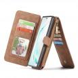 Samsung Galaxy Note 10+ Leren portemonnee hoesje met uitneembare telefoon case