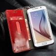 Samsung Galaxy Note 7R rustiek leren boekhoesje rood
