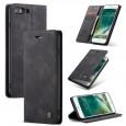 Zacht vintage hoesje / case met 2 kaarthouders en geldsleuf geschikt voor iPhone 7 Plus / 8 Plus zwart
