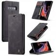 Zacht vintage hoesje / case met 2 kaarthouders en geldsleuf geschikt voor Samsung Galaxy S10+ zwart